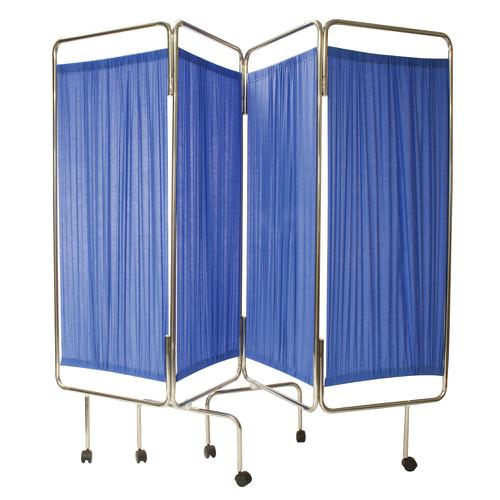 Reliance Relequip Medical Screen 4 Way Flding inc Curtain