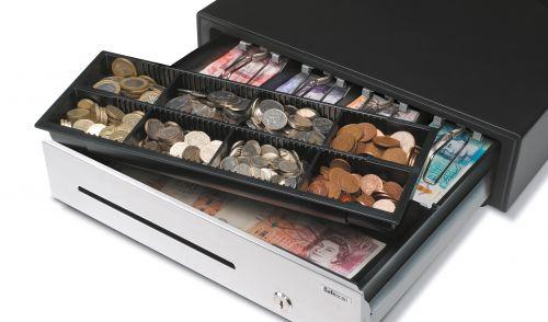 Safescan HD-4141S Heavy-duty Cash Drawer L410xW415xH115mm Black/Silver Ref 132-0426