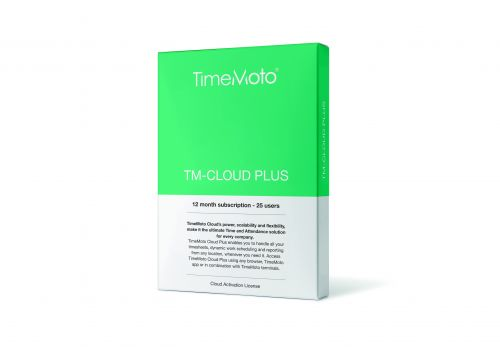 TimeMoto by Safescan Software TM Cloud Plus for Time & Attendance System 25 Users Ref 139-0591