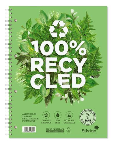 Silvine Premium Recycled A4 Twinwire Notebook PK5