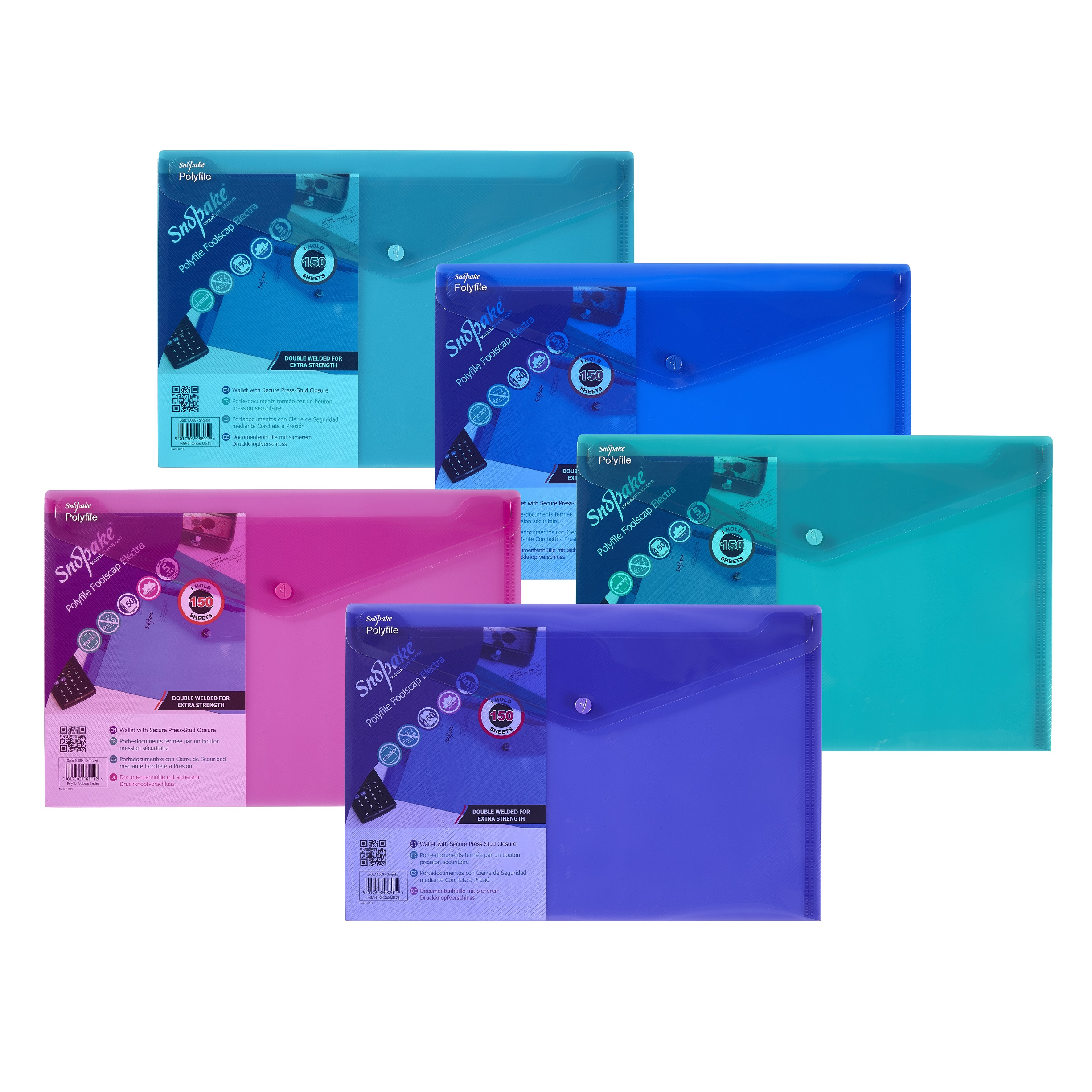 Polyfile Wallet F/S Electra Asd PK5
