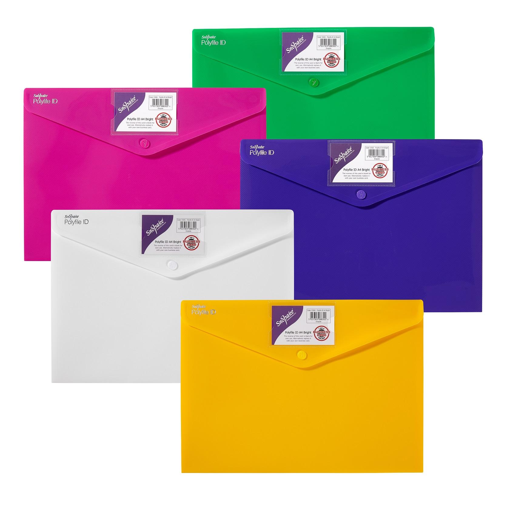 Snopake Polyfile ID Wallet File A4 Bright Astd PK5