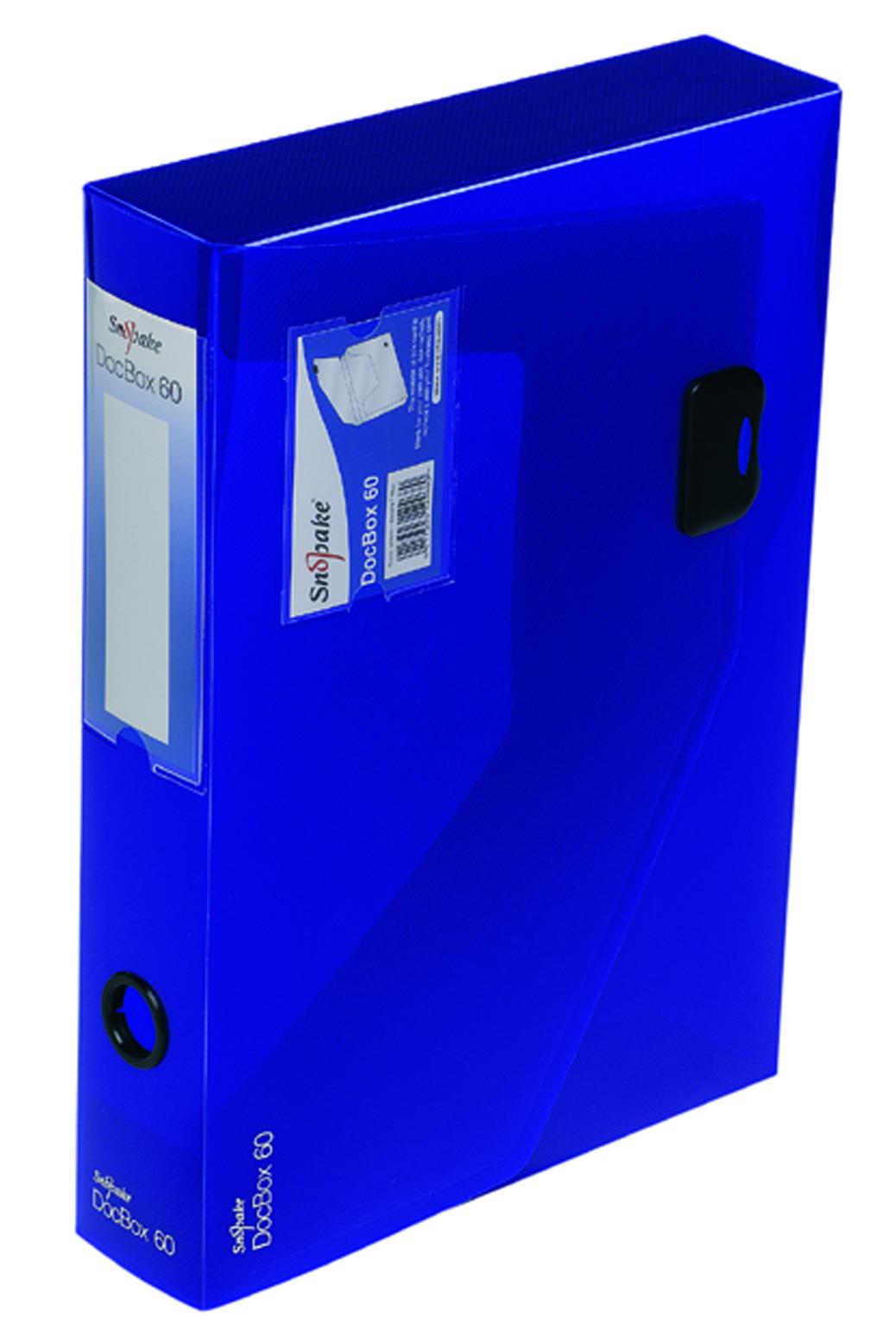 Box Files Snopake DocBox A4 60mm Blue