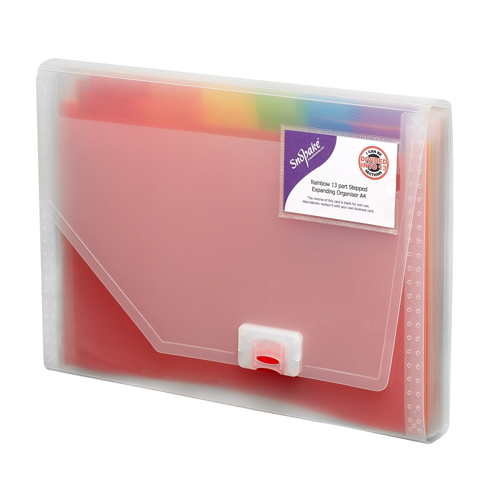 Rainbow 13part Expand Organiser A4