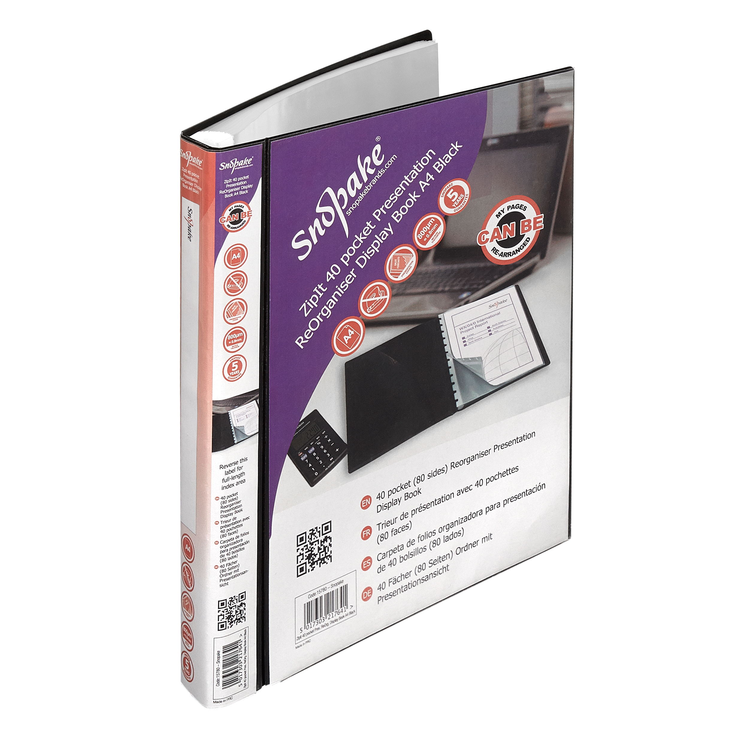 40pkt Organiser Display Book A4 BK