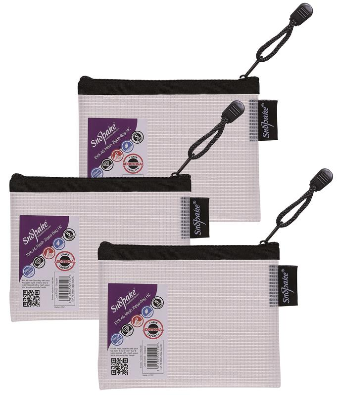 Zip Bags Snopake EVA Mesh Zippa Bag A6 Black Pack 3