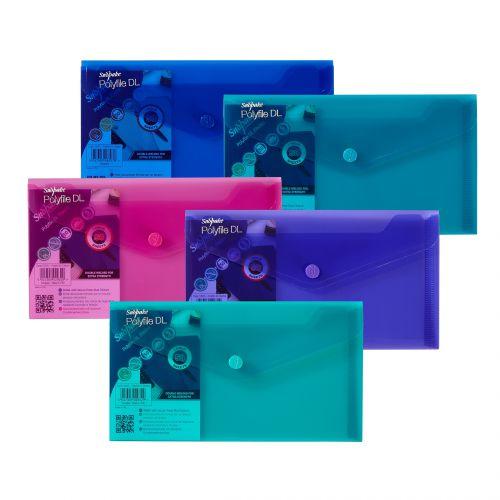 Snopake Polyfile Wallet File DL Electra Astd PK5