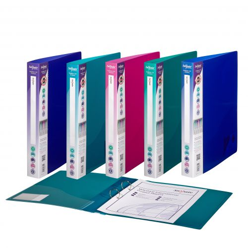 Snopake Superline Ring Binder 2-Ring 25mm A4 Elct Astd PK10