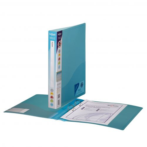 Snopake Superline Ring Binder 2-Ring 25mm A4 Classic BL PK10