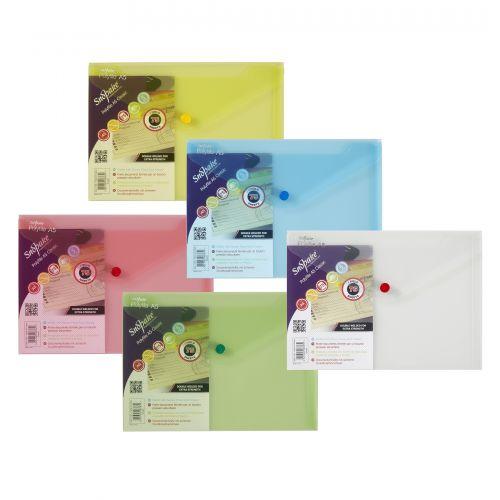 Snopake Polyfile Wallet File A5 Classic Astd PK5