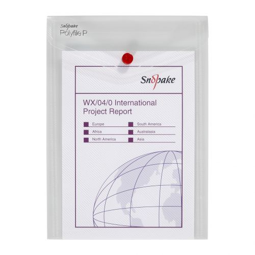 Snopake Polyfile Portrait Wallet File A5 Clear PK5