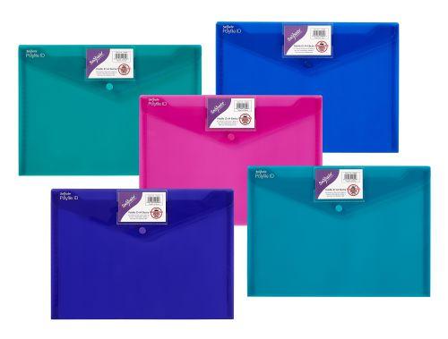 Snopake Polyfile ID Wallet File A4 Electra Astd PK5