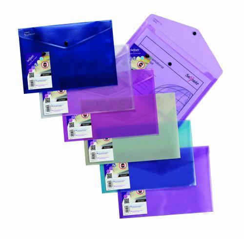 Snopake Lite Polyfile Wallet File A4 Astd PK5