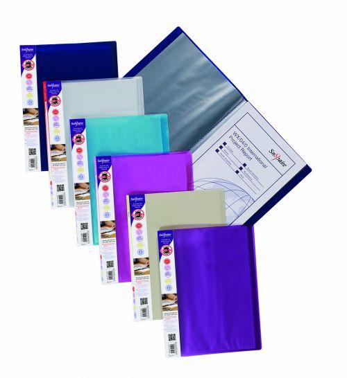 Snopake Lite Display Book 20 Pockets A4 Astd PK12
