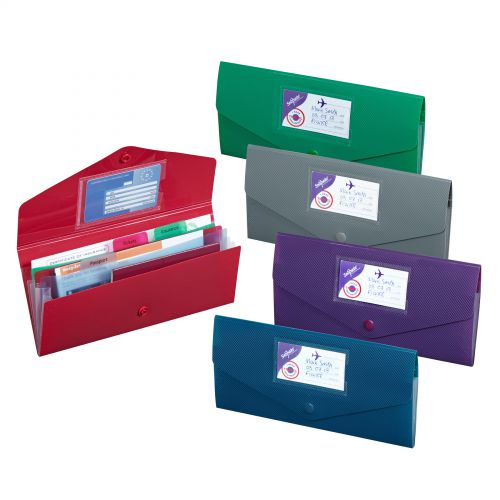 Image for Snopake Fusion Travel Wallet DL Assorted (Pack 5) 15699