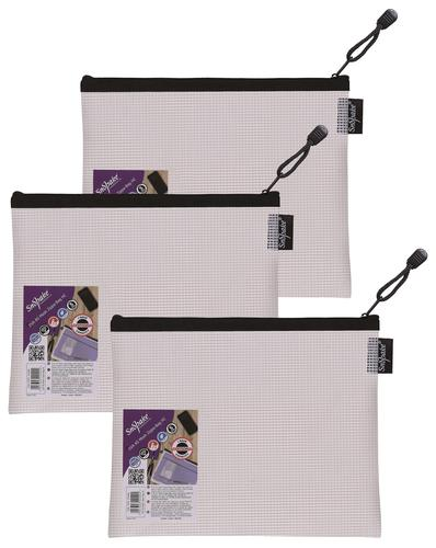Snopake EVA Mesh Zippa Bag A5 Black Pack 3