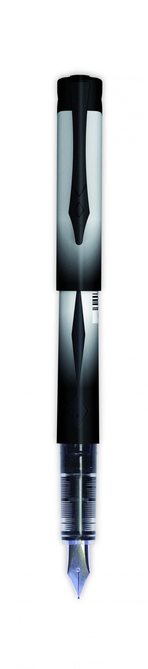 Snopake Platignum Fountain Pen Black (Pack of 12) 50460