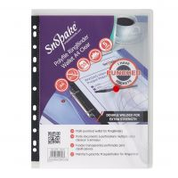 SNOPAKE RING BINDER WALLET A4 CLEAR PK5