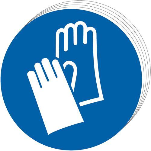 Wear gloves Sign, Self Adhesive Vinyl