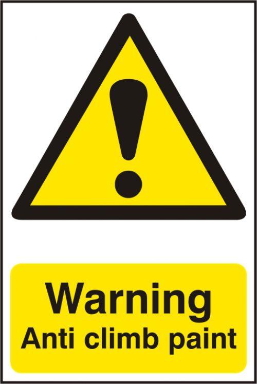 WarningAntiClimbPaintSign S/A S.RigidPVC