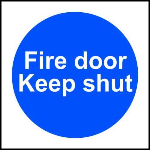Fire Door Keep Shut Sign, Rigid PVC