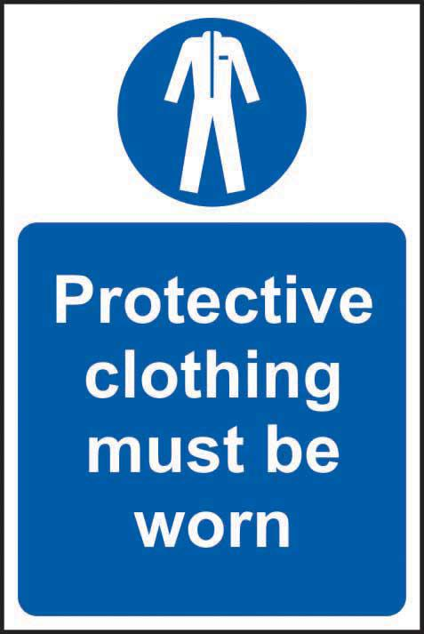 Mandatory Rigid PVC Sign (200 x 300mm) - Protective Clothing Must Be Worn