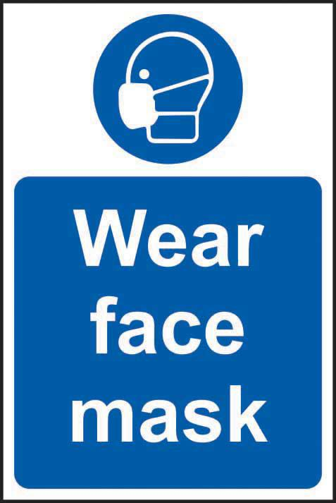 Mandatory Self-Adhesive Vinyl Sign (400 x 600mm) - Wear Face Mask