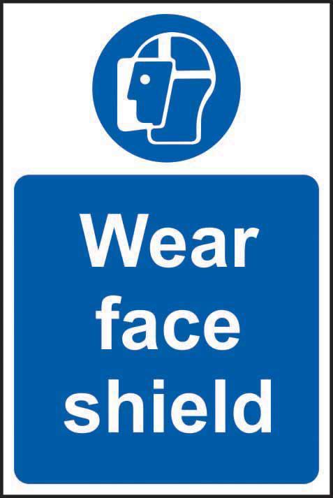 Mandatory Self-Adhesive Vinyl Sign (400 x 600mm) - Wear Face Shield