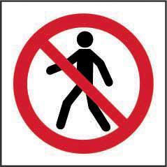 Prohibition Rigid PVC Sign (400 x 400mm) - No Thoroughfare Symbol