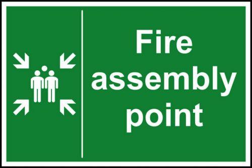 Fire Assmbly Point Sign Rigid 1mmPVC Brd