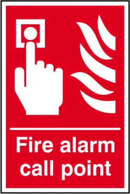 Self-adhesive vinyl Fire Alarm Call Point sign (200 x 300mm). Easy to use, simply peel off the backing and apply to a clean dry surface.
