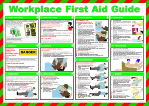 Safety Poster-Workplace First Aid Guide