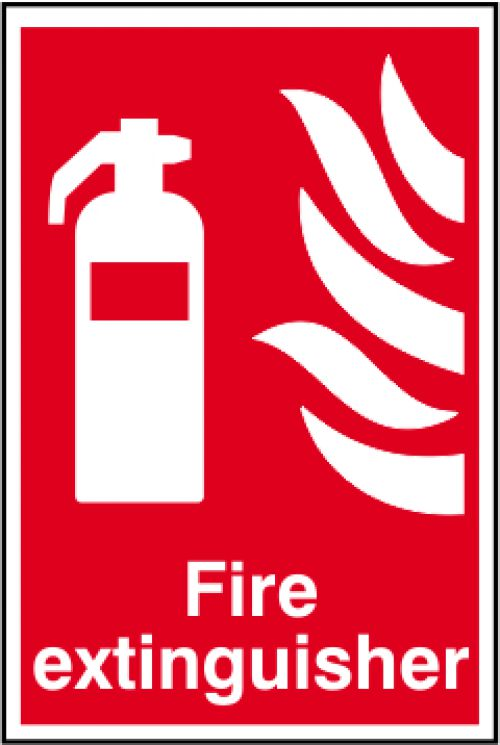 Self adhesive semi-rigid PVC Fire Extinguisher Sign (200 x 300mm). Easy to fix  simply peel off the