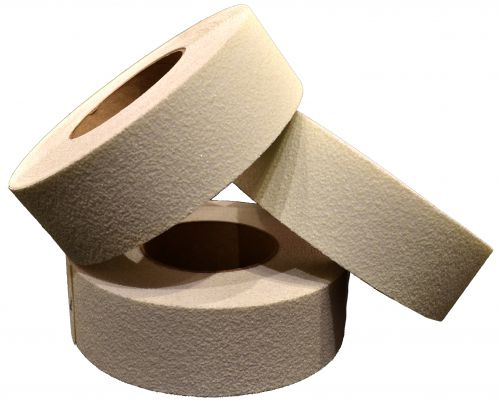 Photoluminescent Anti-Slip Tape 50mm x 18.25m. The tape is laminated with a tough non-slip PVC laminate.