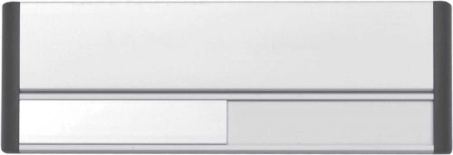 Door Slider System ,  Silver anodised with black end caps & black text (220mm x 90mm)