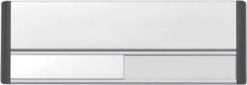 Door Slider System , Silver Anodised With Black End Caps & Black Text (220mm x 75mm)