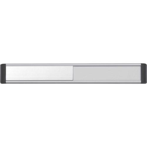 Door Slider System, Silver Anodised With Black End Caps & Black Text (220mm x 30mm)