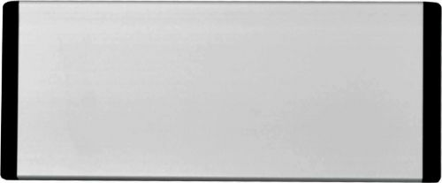 Header Panel Only With Black End Caps & Black Text, Silver Anodised (220mm x 90mm)