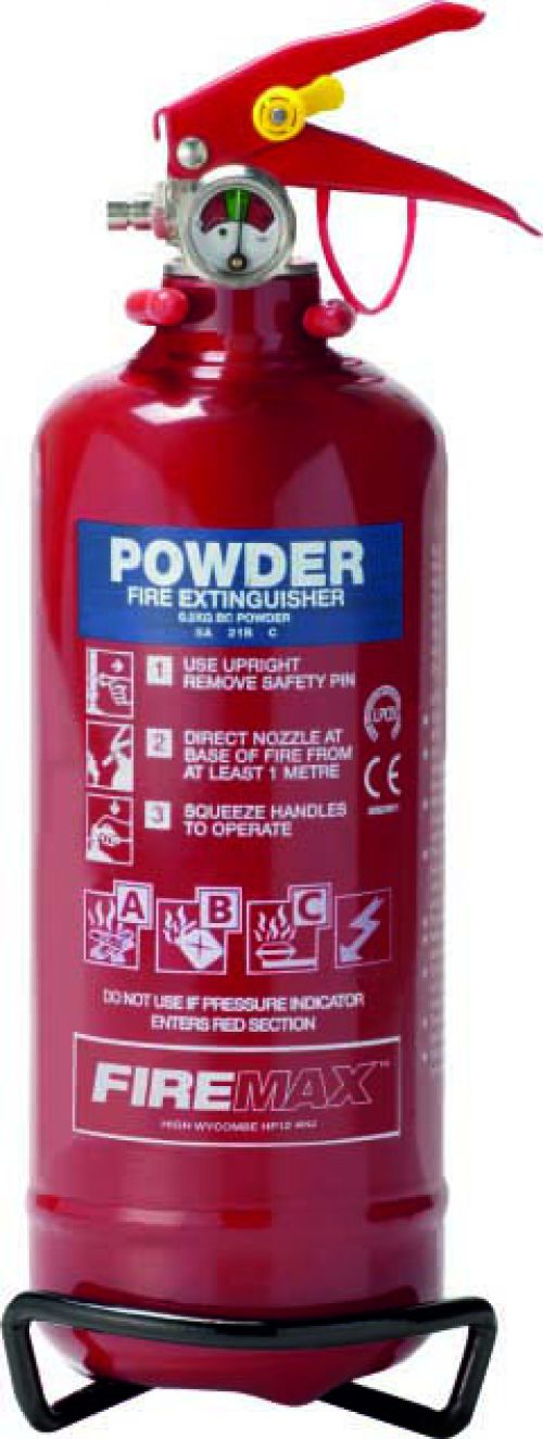 600g ABC Powder (5A 21B C) Fire Extinguisher with corrosion resistant finish and squeeze grip operation. Comes with a 5 year guarantee.