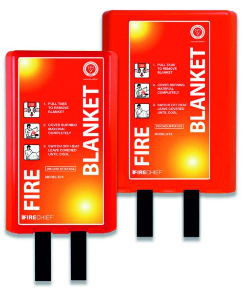 Fire blanket with a durable single-piece moulded design with large labelled area for maximum impact. Size 1.2 x 1.8m.