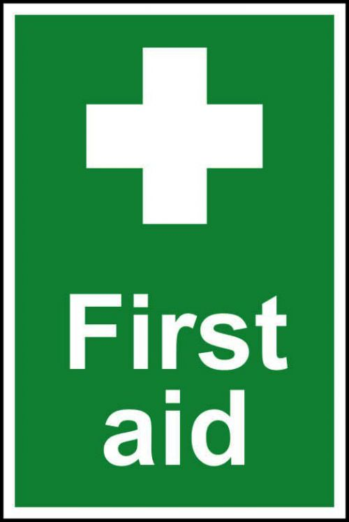 First Aid Sign, S/A Semi Rigid PVC
