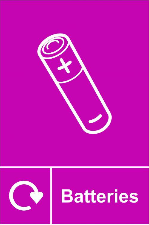 Spectrum Recycling Sign - Batteries RPVC