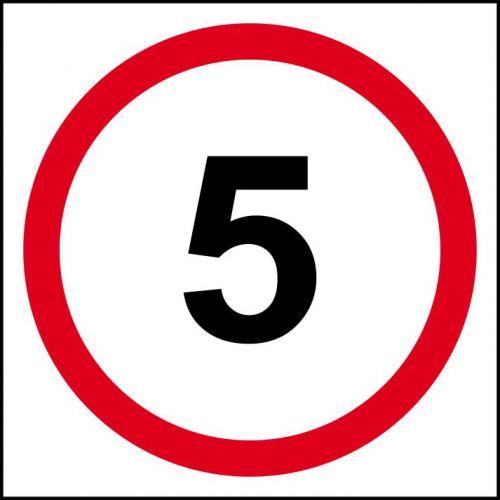 5mph Speed Limit Sign, 3mm Foamex Board