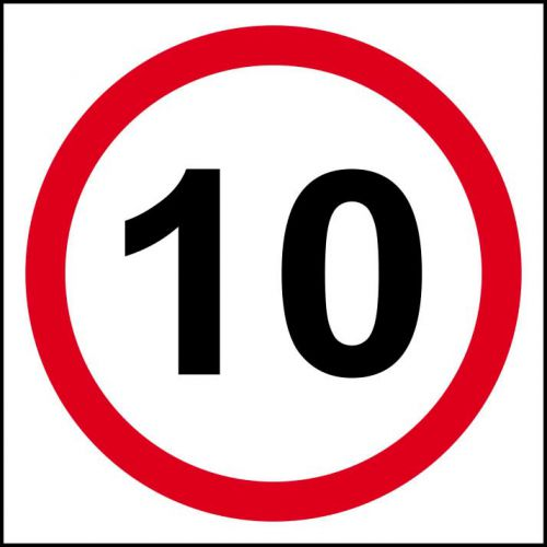 10mph Speed Limit Sign, 3mm Foamex Board