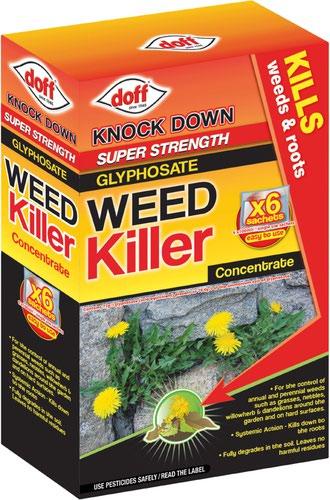 Doff Super Strength Weedkiller 6x80ml Sachets