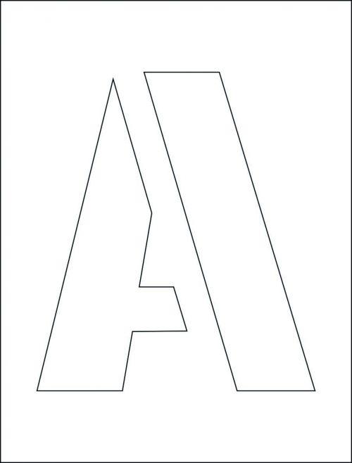 300mm Letter Stencil Kit