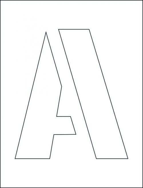 250mm Letter Stencil Kit