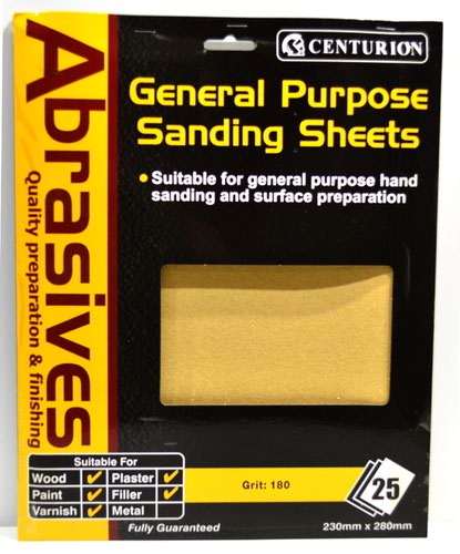 0 Abrasive Sandpaper (pack of 25)