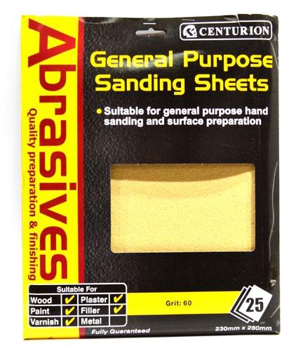 M2 Abrasive Sandpaper (pack of 25)