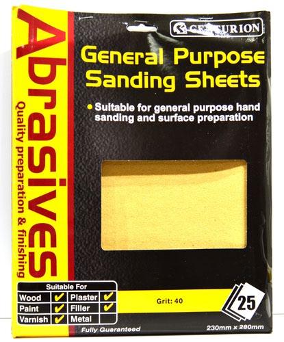 2 1/2 Abrasive Sandpaper (pack of 25)